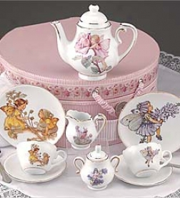 Dishwasher Safe Porcelain Blossom Fairy Tea Set With Cust0m Hatbox Storage Container