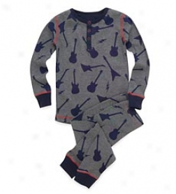 Dogs Of Rock Thermal Pjs Set
