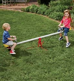 Durable Weather-resistant Metal Spinning Seesaw