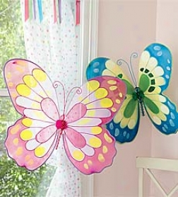 Easy-to-hang Giant Decorative Butterflies With Bendable Wings And Beaded Bodies