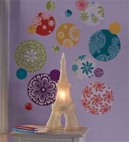 Patterned Dot Wall Stickers