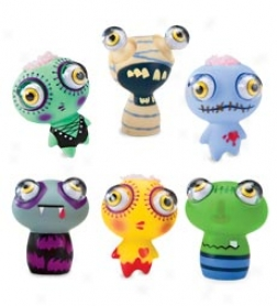 Eye Pop Monster Squeeze Toys, Set Of 6