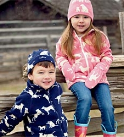 Fleece Hat And Mitten Set