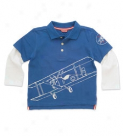 Flying Bears 2-in-1 Layered Polo Tee