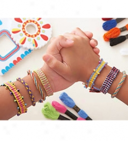 Friend-to-friend Colorful Handwoven Bracelet Kit