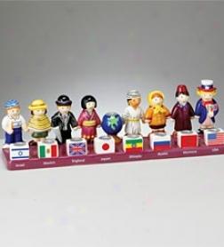 Friends Of The World Hand Painted Ceramic Menorah