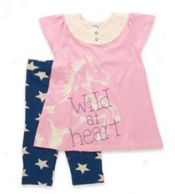 Girls' Starry Night Leggings Set