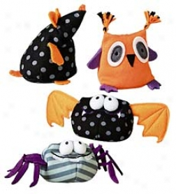 Halloween Beah Bag Critters, Set Of 4