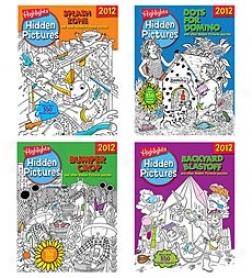 Highlights Hidden Pictures 2012 4-book Set