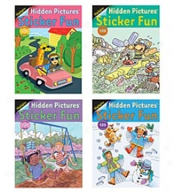 Highlights Hidden Pictures Sticker Fun 4-book Set