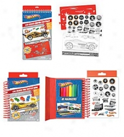 Hot Wheels® Car Desing Mini Sketch Book And Agreement Car Sketch Portfolio Set