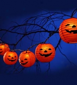 Jack O' Lanterm Halloween String Lights