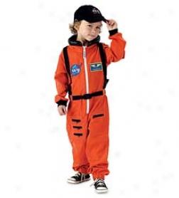 Jr Astronaut Suit -orange Small Only