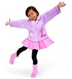Kidorable Ballerina Rain Jacket