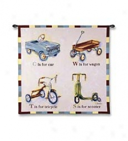 Let's Wheel Wall Hanging With Wand
