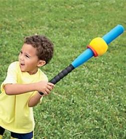 Lightweight E-z  Froth Bat Baseball Trainer With 2 E-z Balls