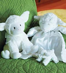 Lovey Lamb & Rattle Set