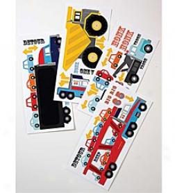 Meri Meri® Big Rig Party Reusable Wall Stickers