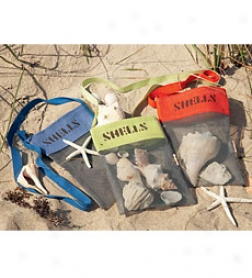 Mesh Material Shell-collecting Bags With Shoulder St5ap