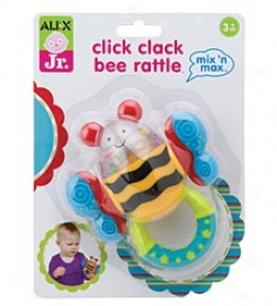 Mix 'n Max Click Clack Bee Rattle
