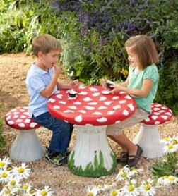 Mushroom Table And Stools Specialsave $19.96 On The Set!