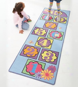 Nonskid Indoor/outdooe Hopscotch Play Mat