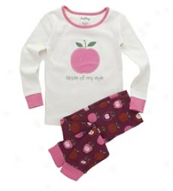 "Nordic Apples ""apple Of My Eye"" Pjs Set"
