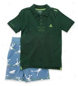 Northern Leopard Frog Shorts Set