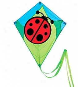 Nylon Ladybug Diamond Kite