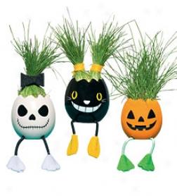 Nyokki Handcrafted Halloween Plant Pet