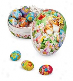 Old-fashioned Papier-m??ch?? Candy-filled Decoupage Egg
