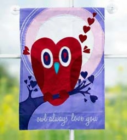 Owl Always Love You Garden Flag-small