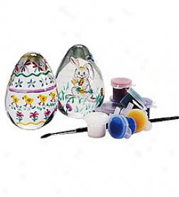 Paint A Glass Egg Kit