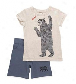Park Ranger Bear Shorts Set