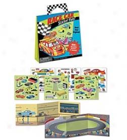 Peaceable Kingdom Race Car Sticker Fun! Reusable Sticker Set