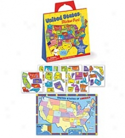 Peaceable Kingdom United States Sticker Fun! Reusable Sticker Set