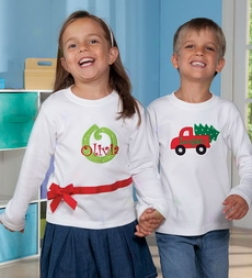 Personalized Long-sleeve Cotton Holiday Tee