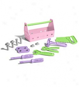 Pink Eco-friendly 15-piece Tool Set