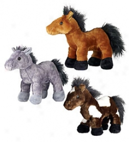 Plush Webkinz Pony Toy Which Links To Vitruzl Online World
