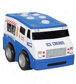 Push 'n Bottom Battery Operated Ice Cream Truck