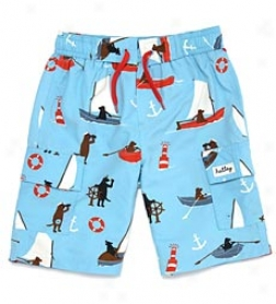 Sailing Dogs Boys' Swim Trunks