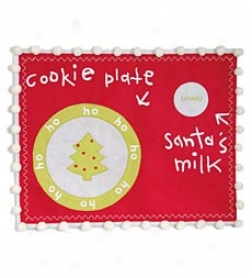 Santa's Cookies And Milk Placemat