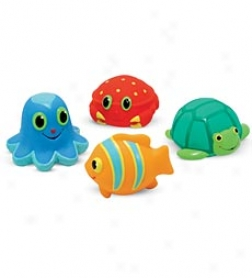 Seaside Squirts, Set Of 4