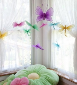 Set Of 10 Decorative Nylon Butterflies And Dragonfliesbuy 2 Or More At $22.98 Each