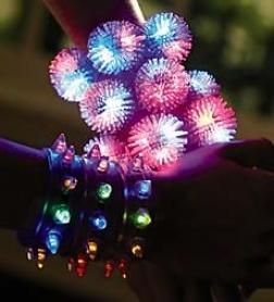 "Set Of 12 3"" Versatile Light-up Bracelet Accessories"
