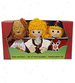 Set Of 3 Beautiful woman And The Beast Hand Puppet Gift Set