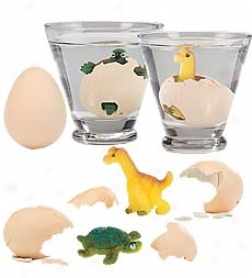 Set Of 3 Hatch 'ems Eggs With Baby Reptiles Inside