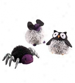 Set Of 3 The dead of night Madness Halloween Plush Gund Beanbag Critters