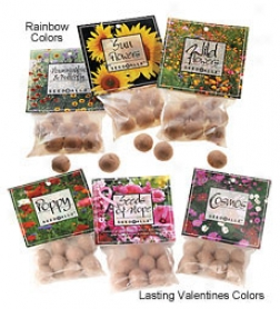 Set Of 3 Rainbow Colored Clay-and-organic-fertilizer-wrapped Seedballz