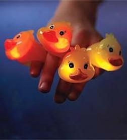 Set Of 4 Duck Light-up Flashing Rings